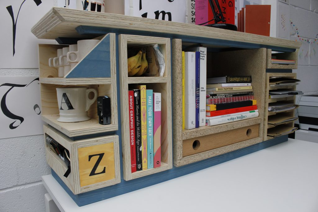 Desk Tidy for 'Zag' graphic deign and print studio